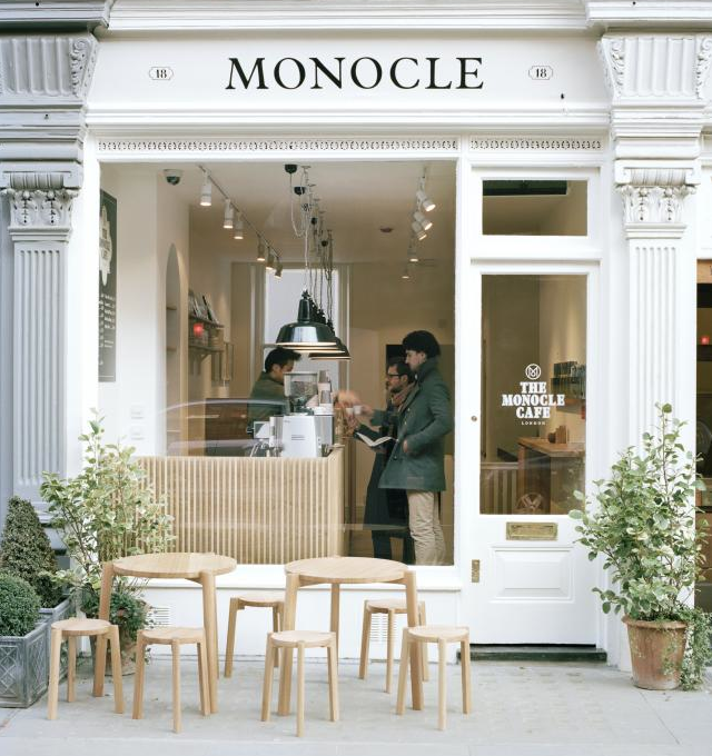 Monocle Cafe London via Stylejuicer