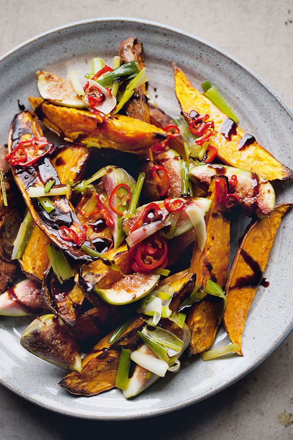 Jerusalem, ottolenghi, sweet potato, fig, salad, goats cheese, gluten free, recipe, cookbook
