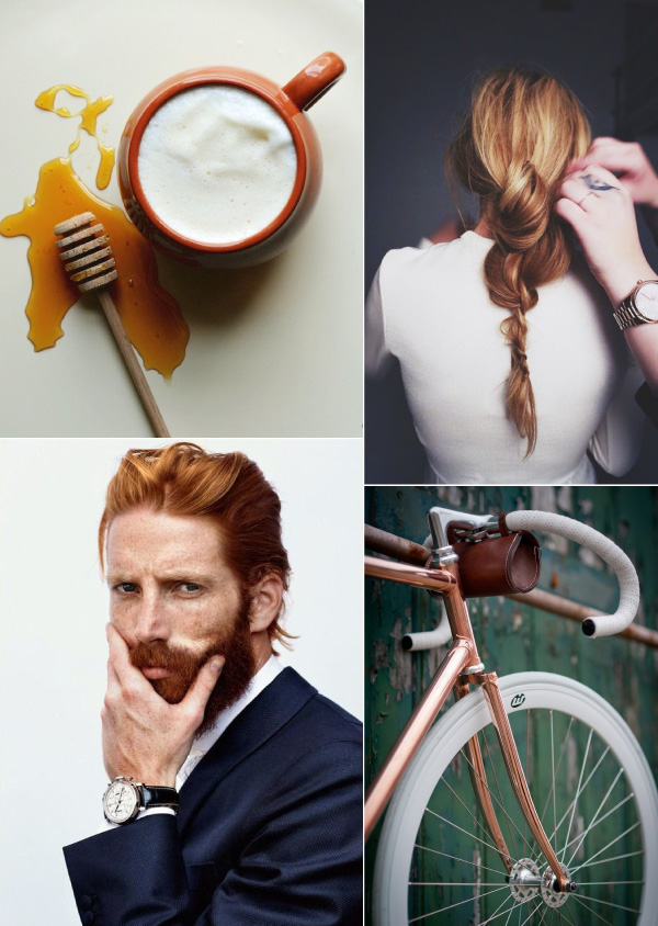 Ginger, Root Vegetable, In The Mix, Bike, Copper, Freckles, Beard, Hairstyle, Recipe, Fresh Ginger Tea, Steamed Honey Cream, Dessert, Drink, Johnny Harrington, Mood Board