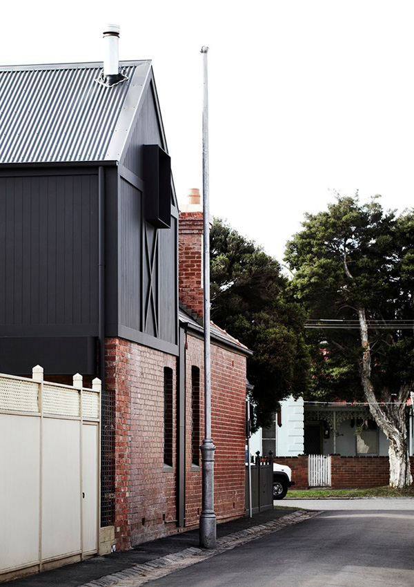 whiting architects, utilitarian extension, melbourne, kerferd, industrial, vintage, barn, material mix, contemporary, white, clean, simple, minimal, interior design