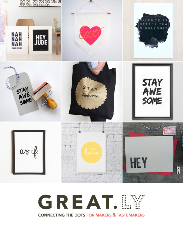 COOL STUFF | TYPOGRAPHY TRENDS FOR THE HOME