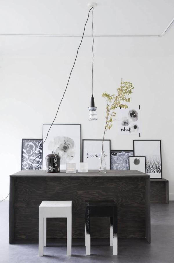 ylva skarp, calligrapher, sweden, home, interior, design, style, trend, monochrome, imperfect, words, raw, rough, vintage, materials, textures, loose, brush, pen, artist