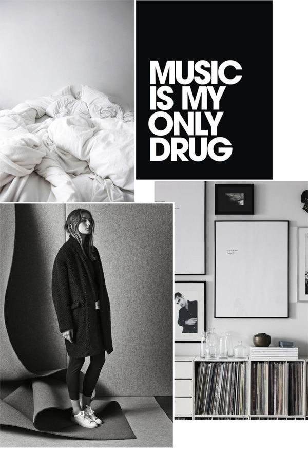 bed, white, monochrome, bed linen, fashion, style, isabel marant, pre-fall, aprilandmay blogspot, blog, music, typography, type, interior design, nordic design, stan smith, anna pirkola, trend, black and white, weekend, vibes, adidas, mood board, oversized sweaters, belted jacket, cargo pants, AW 14