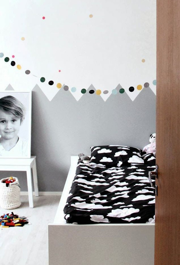 Kids Bedroom Black And White kids corner | black and white kids room ideas