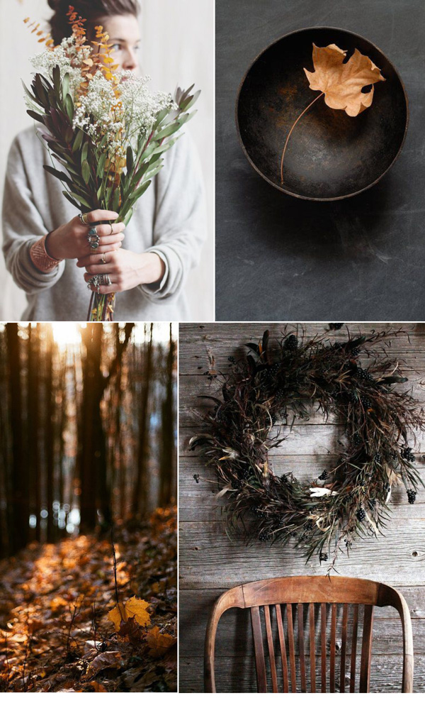 autumn, fall, mood board, vibes, cold, leaves, fruit, seeds, textures, materials, cozy, comfort, warmth, modern rustic, pinterest, muted colours, trends, style, styling, photography