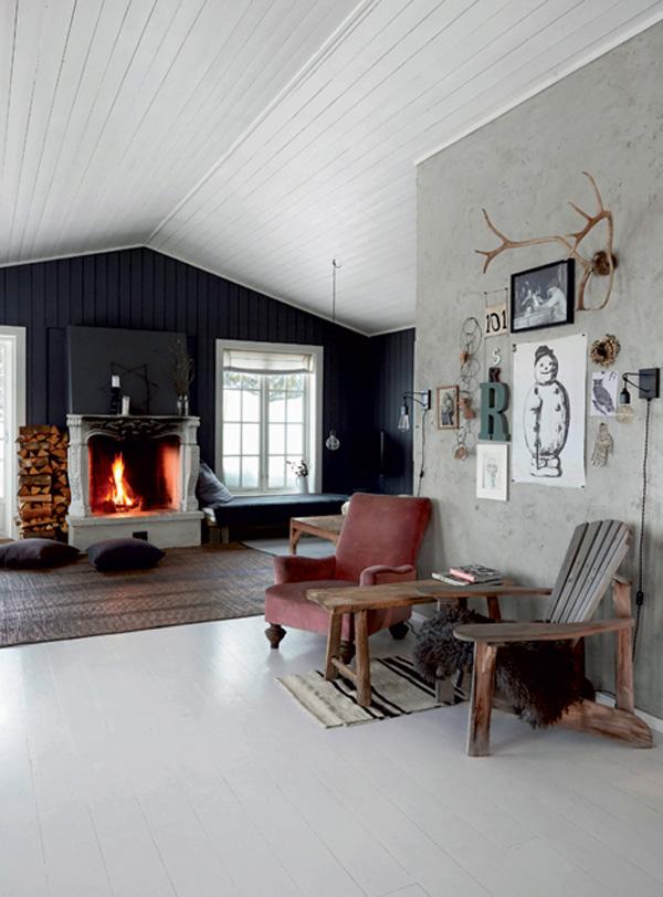 Norwegian Christmas Cabin Decor