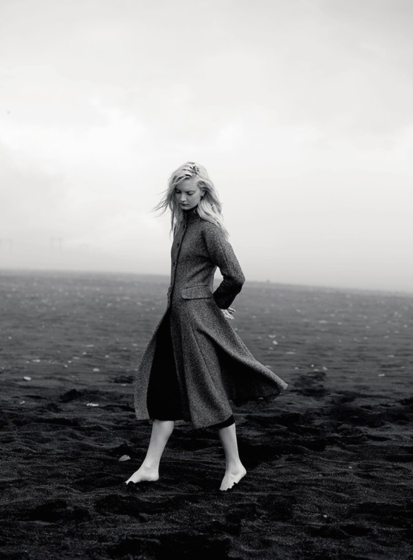 toast uk, AW14, campaign, collection, fabrics, textures, fashion, design, brand, label, nick seaton, iceland, black sand, ice, sophisticated, calm, refelective, alina skirt, silk ikat scarf, tall spats boot, madli cropped sweater, geir coat, ritte top, trend, mood, look book, photography, styling