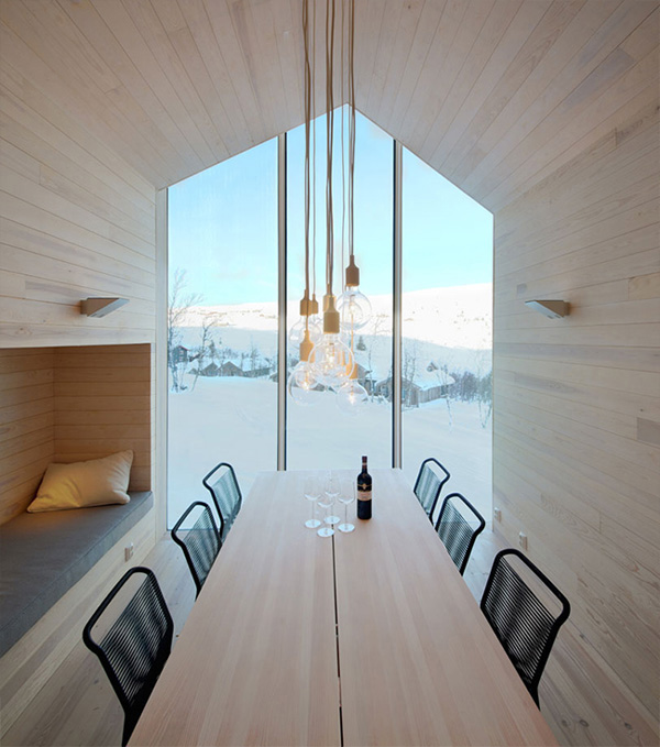 architecture, split view, mountain lodge, norway, ski chalet, contemporary, interpretation, timber facade, concrete workbench, luxury, relaxed, cozy, style, trend, minimal, scandinavian, simple, holiday home, photography