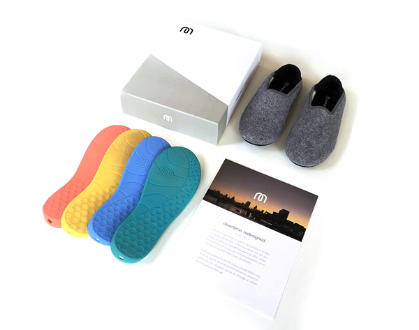 mahabis, slippers, reinvention, quest, perfect slipper, lightweight, breathable, felt, detachable rubber sole, collapsible neoprene heel, simple, stylish, modern, 100% wool, london, scandinavian, design principles, portugal, european, fashion, shoes, style, trend