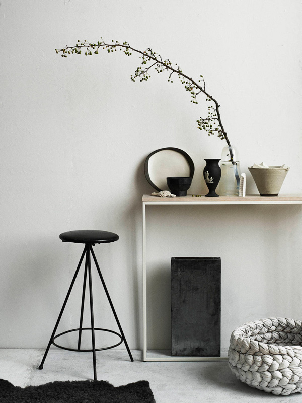 monochrome homes, book, hilary robertson, stylist, pia ulin, photographer, style, trend, interiors, interior, decor, decorating, black and white, coffee table book, collaboration, interior lovers
