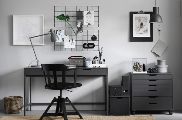 cool stuff ikea alex desk. Black Bedroom Furniture Sets. Home Design Ideas