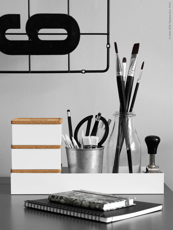 interior, styling, ikea, desk, alex desk, cool stuff, furniture, home office, johanna asshoff, Anna Mårselius, stylist, photography, Ragnar Ómarsson, trend, style, autumn, dark, mood