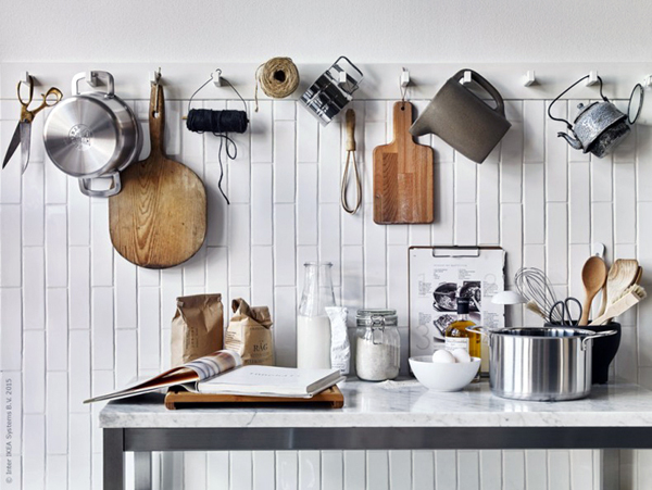 For The Home, Ikea Kubbis Stable Hooks, Kitchen, Easy Update, Modern Rustic