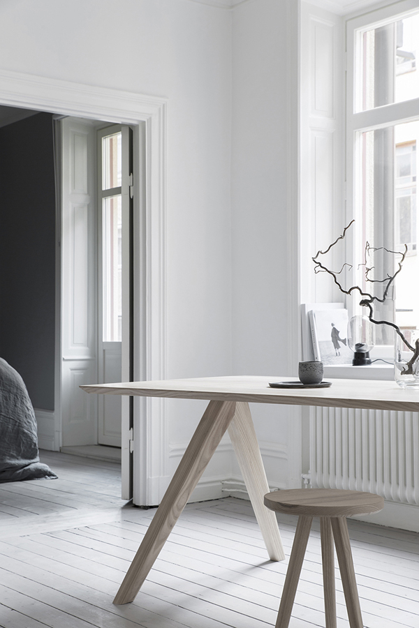 melo studio, swedish, sweden, quality craftsmanship, solid wood, minimalism, humble, aesthetics, pared back, beautifully finished, desk, stool, mirror, style, trend, interiors, interior design, styling