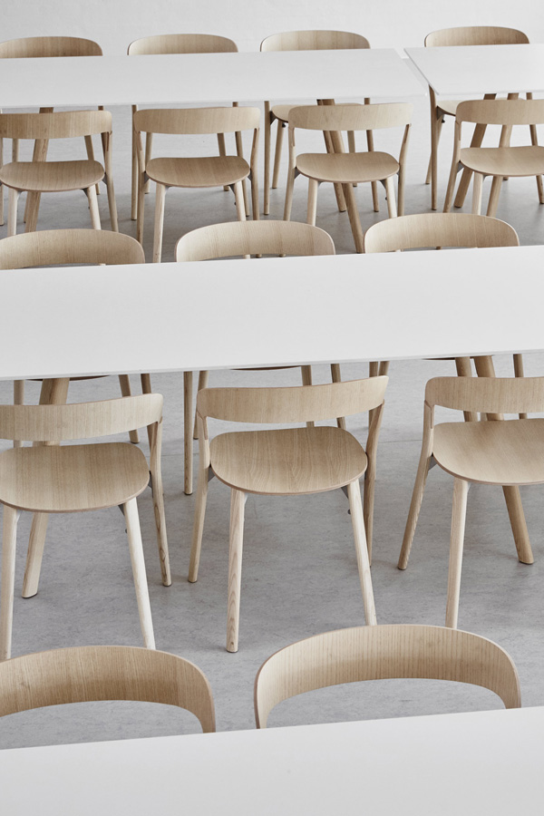 danish, grammar, school, gymnasium, faurskov, interior design, sofie ladefoged, contemporary, form follows function, modernist, polished concrete flooring, stackable chairs, birch wood, adolescents, teach, respect