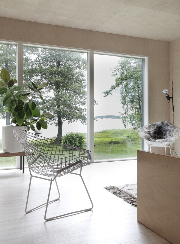 minna jones, summerhouse, scandis, scandinavia, finland, finnish, interior stylist, designer, clean, minimal, home, style, plywood, contemporary, rustic, industrial, lake, woods, plants, trend, decor