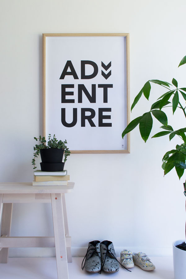 adventure print, poster, wild boys and girls, tiffany grant-riley, curate and display, stylist, style, minimal, plants, botanical, journey, destination, photography, trend, wall art, decor, typographic