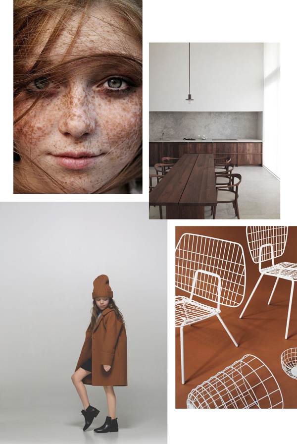 autumn, mood board, terracotta, maroon, changing colour, seasons, fall, freckles, wood, wool, imperfect, leather, furniture, kitchen design, interiors, decor