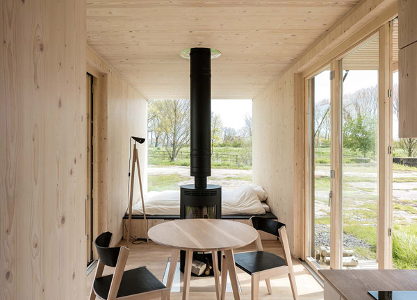 ark shelter, architecture, architect, zero impact, design, style, minimalist, natural wood, back to nature, woodburner, philosophy, landscape, cabin, module, ecological