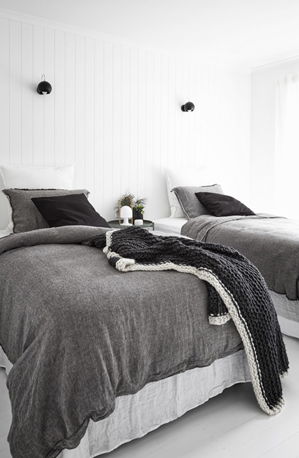 interior design, style, styling, decor, melbourne, mornington peninsula, monochrome, textures, scandi style, scandinavia, contemporary living, luxury, urban, hale mercantile, flocca signature bedding, design conscious, urban, modern rustic, poss samperi, orchard keepers, nord house