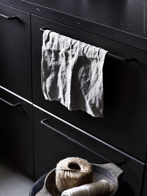 ikea, black kitchen, ikeahack, from us with love, design studio, collaboration, recycled materials, recycled timber, recycled pet bottles, anthracite, trend, style, styling, design, interiors, pella hedeby