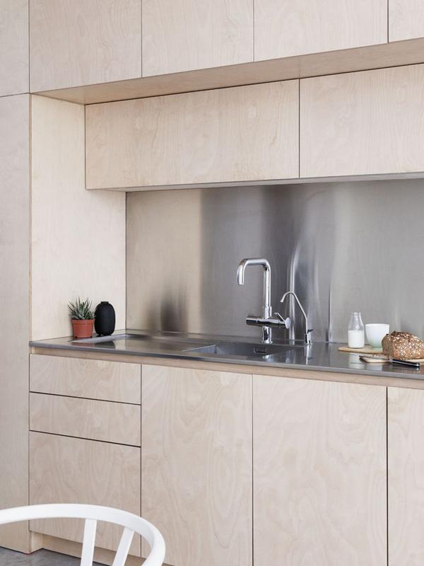islington conversion, larissa johnston, architects, plywood, connection, light, modern, simple, floorspace, floorplan, clean, storage, decor, interior, interior design, trend, style, minimalist