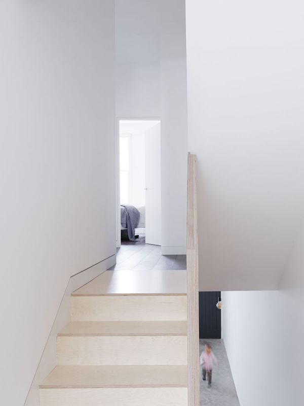islington conversion, larissa johnston, architects, plywood, connection, light, modern, simple, floorspace, floorplan, clean, storage, decor, interior, interior design, trend, style, minimalist