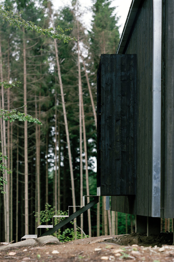 weekend, foresters house, natural reserve, sweden, Petra Gipp Architecture, environment, minimalist, cubic design, picture windows, tarred wooden cladding, reconnect with nature, style, trend