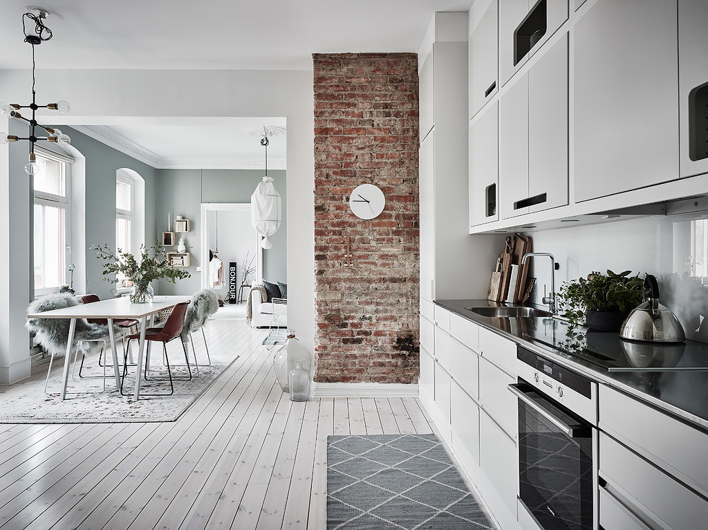 Interiors Crush Grey Green Apartment In Sweden Stylejuicer