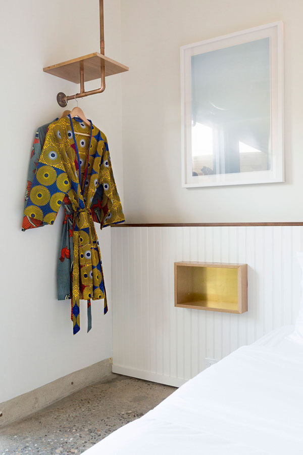 native hotel, malibu, laid back, luxury, boutique, elegant, modern, contemporary, minimal, rustic, surf shack chic, polished concrete floor, wooden beams, bungalows, kente cloth bathrobe, hand dyed rugs, vintage, eclectic, hammock, style, trend, styling, modern rustic